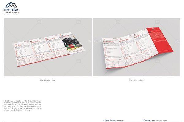 Sản phẩm của công ty thiết kế Brochure Memilus