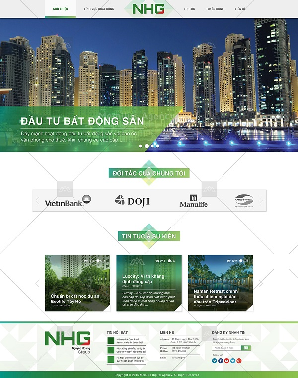 công ty thiết kế website mẫu 6