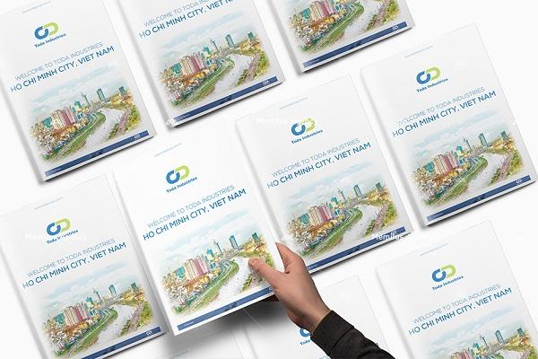 Bìa hồ sơ năng lực công ty TODA được thiết kế bài bản - dịch vụ thiết kế profile công ty Memilus